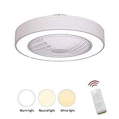 JINWELL Ventilatore da soffitto Modern Creativity Simply Chandelier Fan Lampadario Fan LED Dimmerabile Ultra-silenzioso Risparmio Energetico Camera da letto Soggiorno Fan centimetri 58 cm