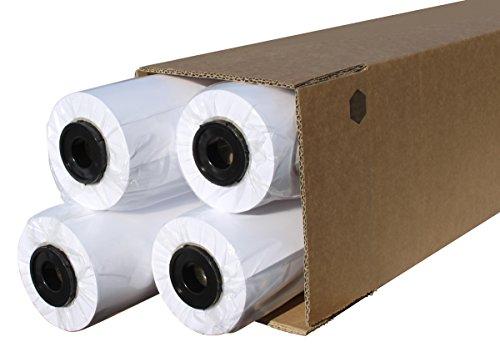 CABRO 511524-46 Qualitäts-Plotterpapier, 4 Rollen, 90 g, 1524 mm x 46 m, Ideal für Pläne, Cad-Skizzen, weiß