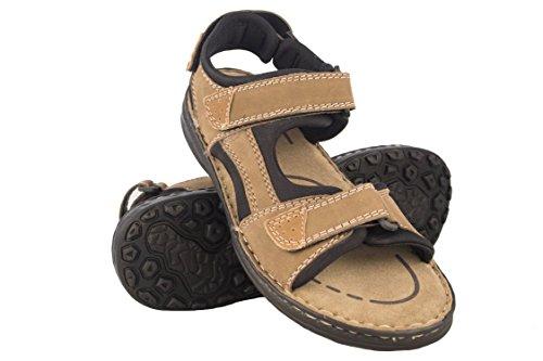Zerimar sandali da uomo | sandali da trekking da uomo | sandals man hiking | sandali di cuoio da uomo | sandali estivi da uomo | colore moka taglia 40