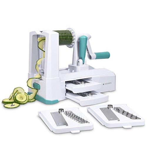 Navaris 5en1 cortador en espiral para verduras y spaghetti - rallador en...