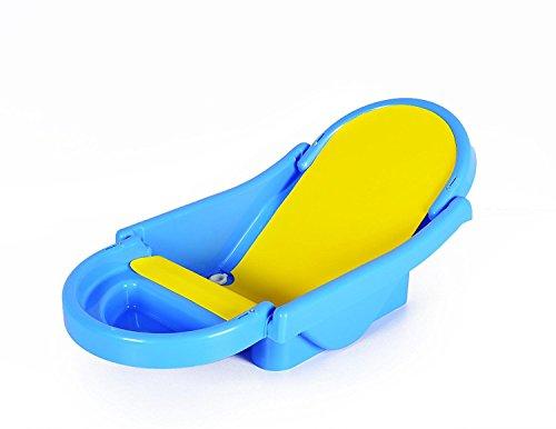 Toyboy Honey Bee Foldable Non-Toxic Plastic Baby Bath Tub with Anti-Slip Base (Blue)