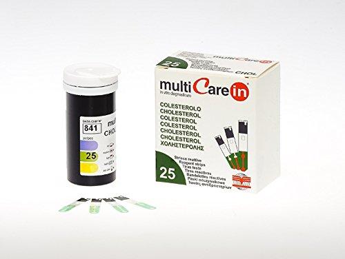 """BSI Multicare """"in"""" Cholesterin-Teststreifen, Chip, Packung 25 Stück"""