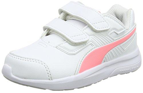 Puma Escaper SL V PS, Scarpe Running Unisex - Bambini, Bianco Soft Fluo Peach White, 35 EU
