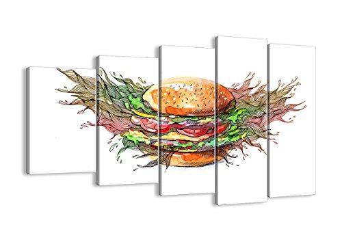 Bild auf Leinwand - Leinwandbilder - fünf Teile - Breite: 150cm, Höhe: 100cm - Bildnummer 2981 - fünfteilig - mehrteilig - zum Aufhängen bereit - Bilder - Kunstdruck - EG150x100-2981