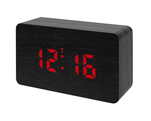 Bresser Funkwecker MyTime W mit LED Display schwarz/rot