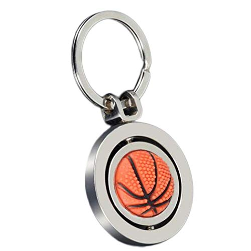 Schlüsselanhänger, Paar, für Auto, Basketball, drehbar, Schlüsselanhänger, Schlüsselanhänger, Dekoration, für Auto/Tür/Telefon/Tasche