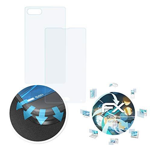 atFolix Schutzfolie passend für Bluboo S1 Folie, ultraklare & Flexible FX Bildschirmschutzfolie (3er Set)