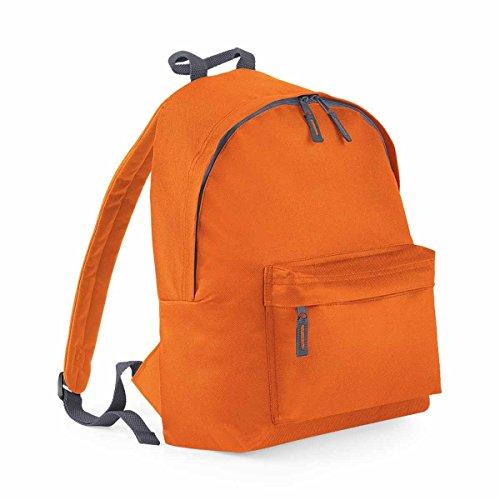 Bag Base mixte Bg125orgp Original Sac à dos tendance, Orange/gris graphite, Medium