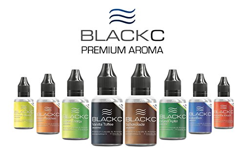 BLACKC PREMIUM AROMA zum selber mischen von E-Liquid/Liquid-Base für E-Zigaretten und E-Shishas - ORIGINAL AROMA-KONZENTRAT unserer TOP-Seller-E-Liquids, MADE IN GERMANY (Vanilla - Toffee, 50 ml) -