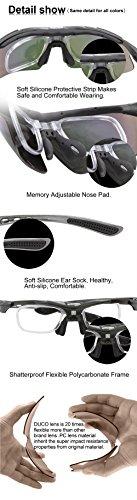 Duco Radsportbrille Outdoor Sonnenbrille für Sportler polarisierte 5 austauschbare Gläser UV400 SP0868 - 5