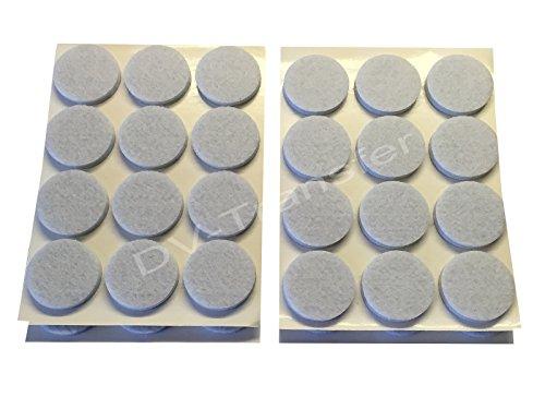 Dv-Transfer Lot de 48 patins en feutre autocollants ronds et gris pour protéger les sols - 5 mm