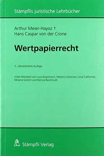 Wertpapierrecht (Stämpflis juristische Lehrbücher)