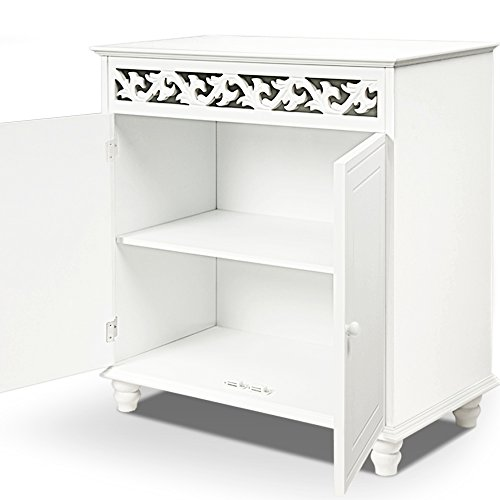 White wooden cupboard cabinet si...