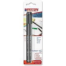 Edding 1200/2-01 - Blíster con 2 rotuladores, color negro