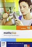 mathe live 10 G: Arbeitsheft mit Lösungsheft und Lernsoftware Klasse 10 (G-Kurs) (mathe live. Bundesausgabe ab 2006)