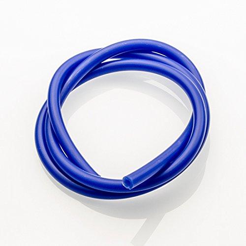 Ø 4mm 1 Meter Silikon Unterdruckschlauch ( Blau ) Meterware -