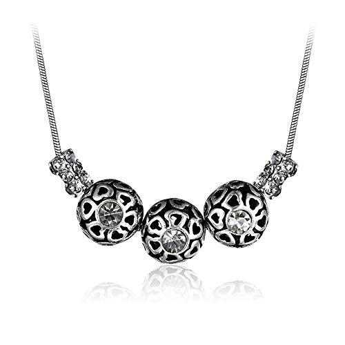 ZZD Retro Mode Runde Muster Ausschnitt Diamant Anhänger, getragen von Männern und Frauen -