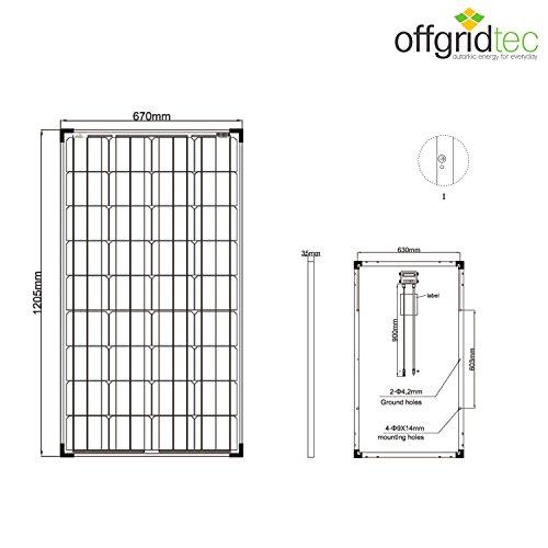 Spar Bundle 2 x 130 Watt Solarmodul – TÜV – MONO-Zellen 12V Solarpanel – Offgridtec - 4