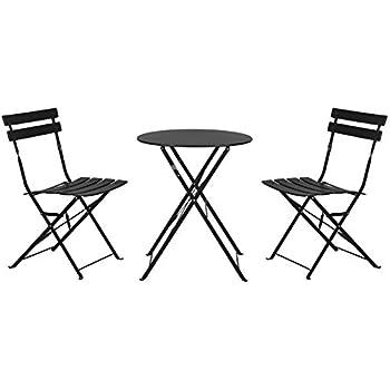 Amazon.de: Unbekannt Bistro-Set Garnitur 3-tlg Sitzgruppe Metall ...