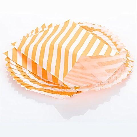 Feicuan Sweet Candy Treat Papiertüten Geschenktaschen Halloween Party Wedding Gifts Display 5 x 7 Inch (Pack of 50)