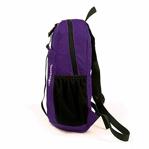 FakeFace Unisex Rucksack Faltrucksack Reisetasche Wanderrucksack Picknickrucksack Wasserdicht Tasche Daypack Tragetasche Lila