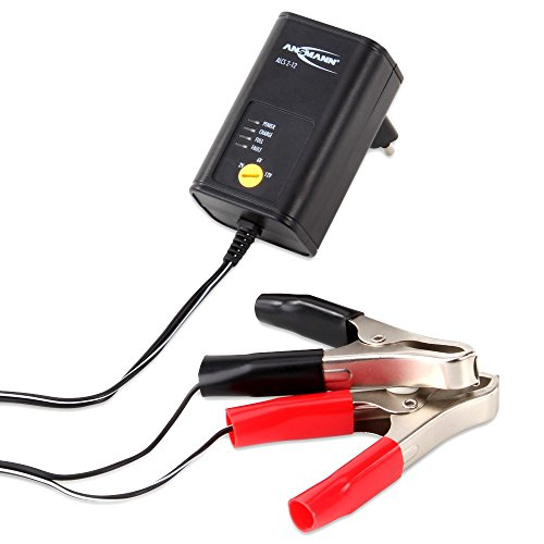 ANSMANN ALCS 2-12A/0,4A KFZ Ladegerät/Vielseitiges Batterieladegerät für Autobatterien & Bleiakkus mit 2V, 6V & 12V / Ideal für PKW, Motorrad, Roller oder Boot/Inkl. Polklemmen