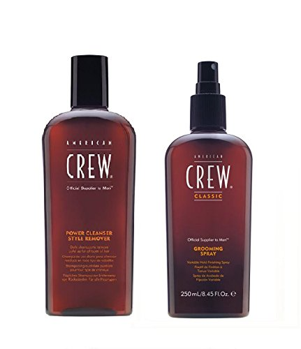 American Crew Power Cleanser Stil Entferner Shampoo 250ml und Fellpflege Spray 250ml - American Crew Grooming Spray