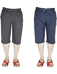 AVR Men And Boys Multicoloured Capri Cotton Regular Fit Casual Wear Sports Wears Active Wear Capris Or Three-Fourth...