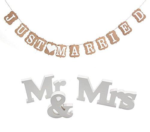 Mr Mrs Buchstaben und Papier Girlande Banner Hochzeit Deko Present (Große Banner Hochzeit)