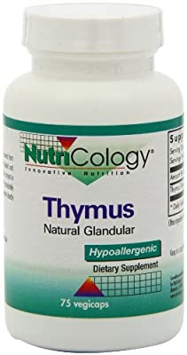 Nutricology/ Allergy Research Group Thymus Organic Glandular - 75 - Capsule