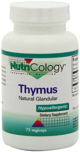 Nutricology/ Allergy Research Group Thymus Organic Glandular - 75 - Capsule Test