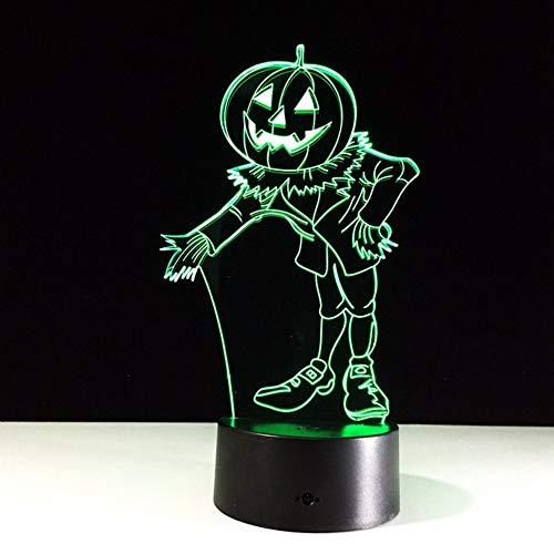 Dwthh Halloween Kostüme Kürbisse 3D Nachtlicht Acryl Visuelle Led Usb Schreibtisch Tischlampe Für Zuhause Atmosphäre Lampe Baby Schlaf ()
