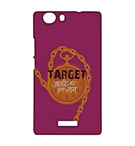 RANGSTER Target-Ophis Ophis-Matte Finish Mobile Case For Micromax Canvas Nitro 2 (E311)-Pink