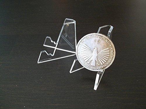 3 Medallie-n-Münz-Orden-Teller-Ständer bis ca. 5 cm Acryl vom Sachsen Versand …
