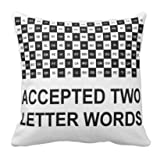 perfecone Kissenbezug für Heimwerker Zwei Buchstaben Wörter Design für Sofa und Auto Kopfkissenbezug 1 Packung 20x20 Zoll