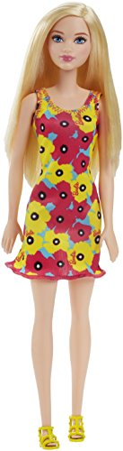 Barbie - DVX87 Barbie  Doll (Brand Entry Yellow Flower dress) Dark Blonde