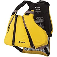 ONYX MoveVent Curve Paddle Sports Life Vest, Yellow, (Sport Life Vest)