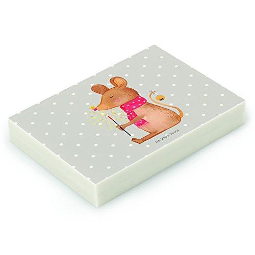 Mr. & Mrs. Panda Radiergummi Weihnachtsmaus - 100% handmade in Norddeutschland - Natur, Frohe...