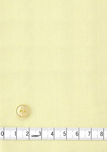 LEONIS Pflegeleichte Damen Langarm-Popeline-Bluse Zitronengelb