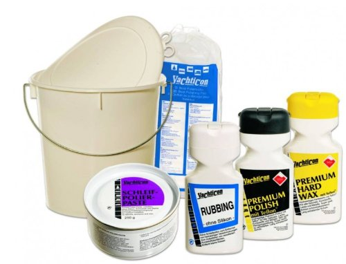 Yachticon Boots-Politur Set Schleif und Polierpaste Rubbing Premium Politur mit Teflon Premium Hart Wax mit Teflon