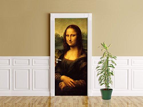 Türaufkleber Leonardo da Vinci - Alte Meister - Mona Lisa - Kunst - Reproduktion - Künstler - Werk...