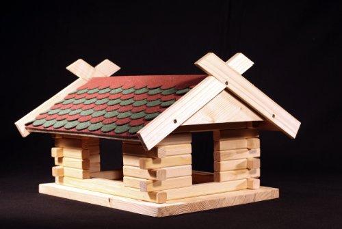 Martinshof Rothenburg Diakoniewerk 'Mangeoire Kit feuilles d'automne épicéa L45 B40 H28 cm bardeaux 23.0054 \\