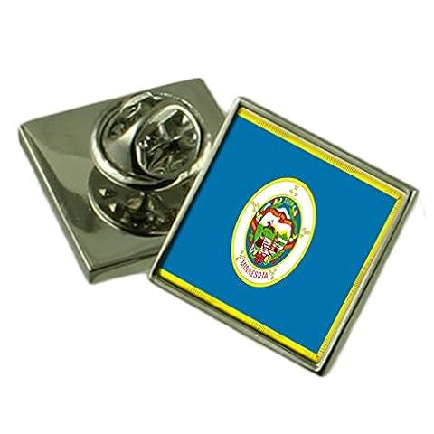 Minnesota Flagge Anstecknadel Abzeichen Massiv Silber 925
