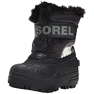 Sorel Children Unisex Boots, CHILDRENS SNOW COMMANDER, Black (Charcoal), Size UK: Child 11.5