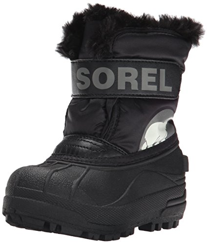 Toddler Clearance (Sorel Toddler Snow Commander, Unisex Baby Stiefel, Schwarz (Black/ Charcoal), 24)
