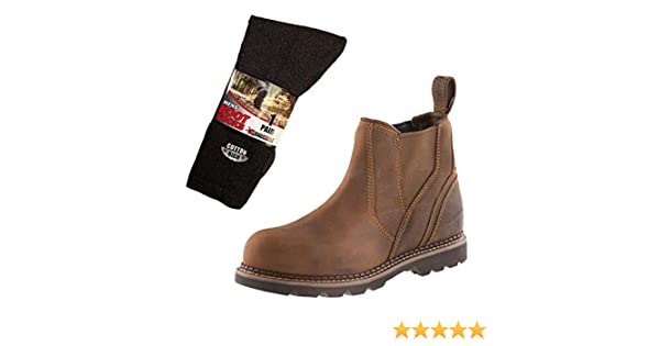 Sizes 6-13 Mens Steel Toe Buckler B1555SM Safety Dealer Work Boots Waxed Brown