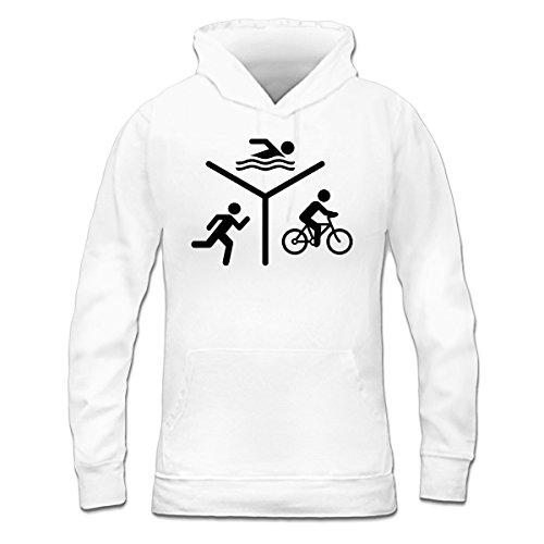 Shirtcity Triathlon Silhouette Logo Frauen Kapuzenpullover by