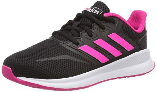 adidas RUNFALCON K, Scarpe da Running Bambino, Mehrfarbig (Core Black/Shock Pink/Ftwr White Ee4669), 36 2/3 EU