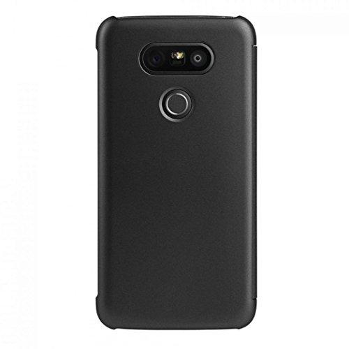 Preisvergleich Produktbild For LG G5 Hülle ,  Ouneed Luxus Schlag intelligenter Hülle für LG G5 (Schwarz)