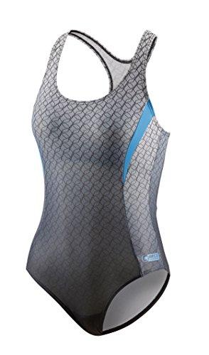 Beco Damen Schwimmanzug Competition Schwimmkleidung silber/Grau